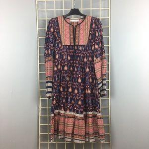 ZARA midi boho printed dress